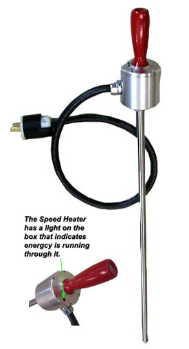 The speed heater will heat bolts up to 4 times faster than standard heaters
